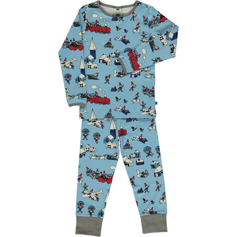 Smafolk Elf Landscape Pyjamas Set Blue