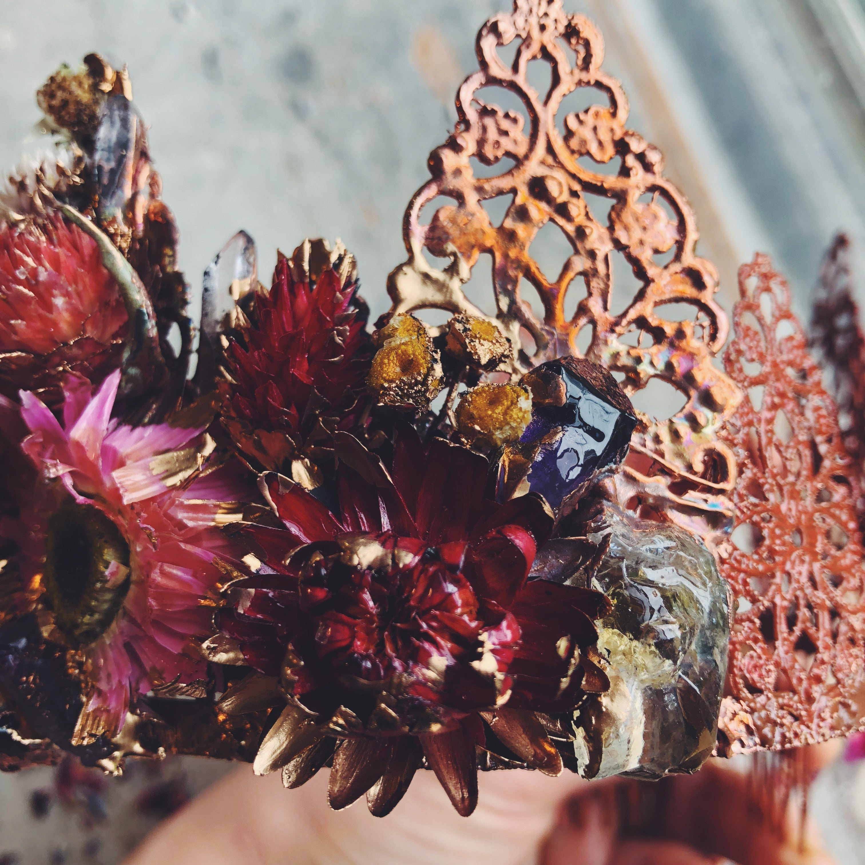 "*SALE* ""The Blooming of your Heart"" Crystal + Floral Crown"