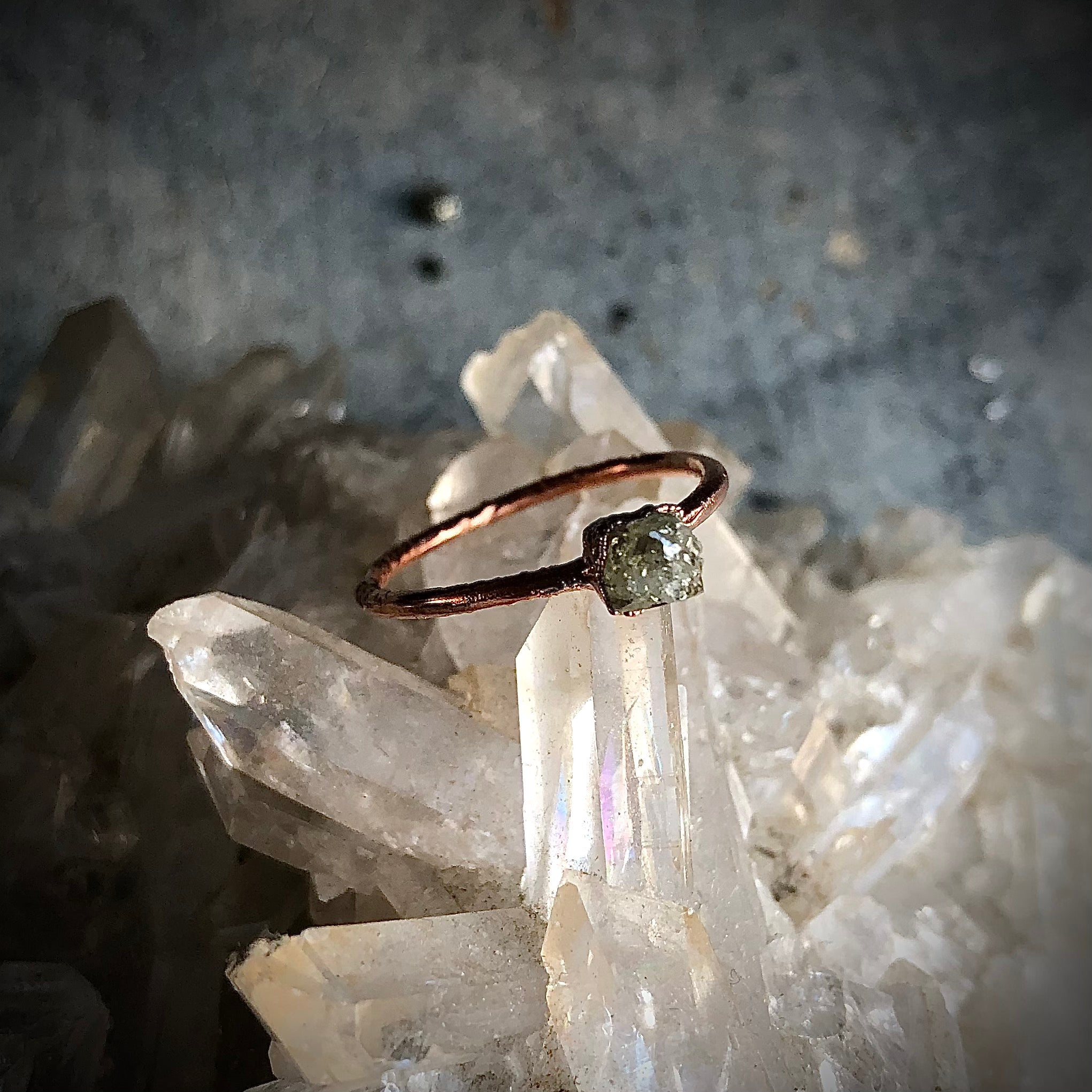 Raw Diamond Ring, Size 6