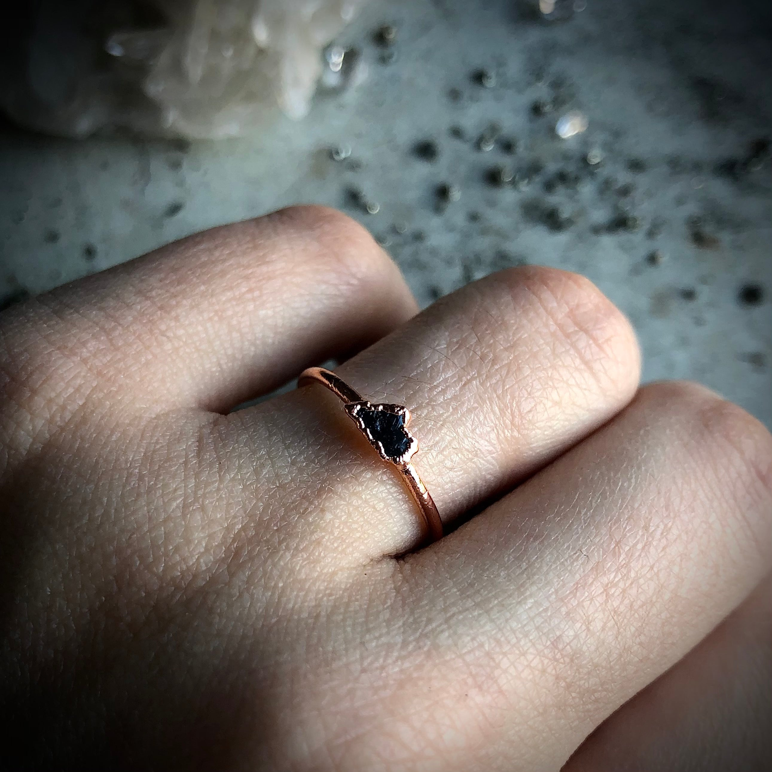 Black Diamond Ring, Size 6