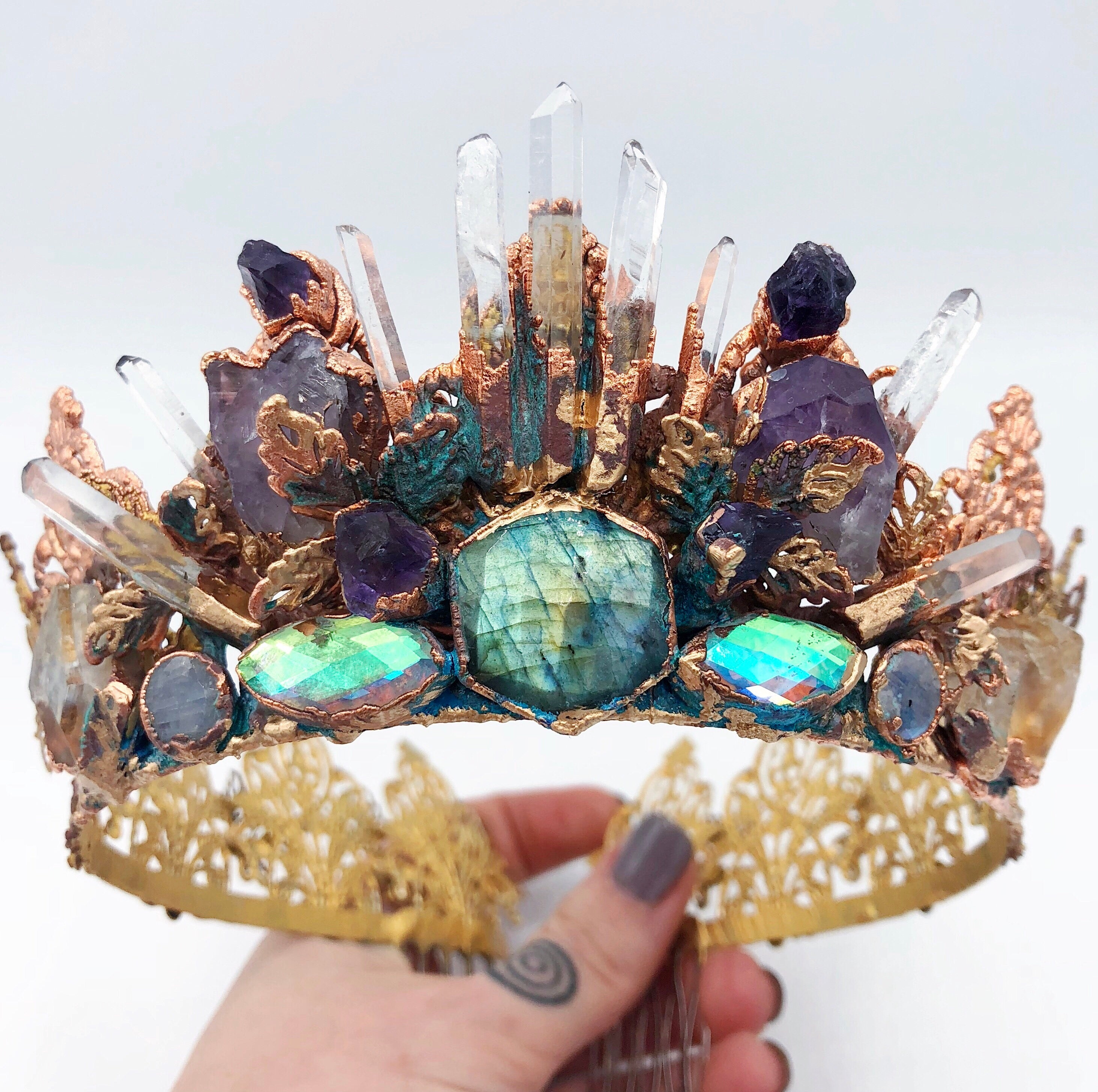 Gleaming Goddess Crystal Crown