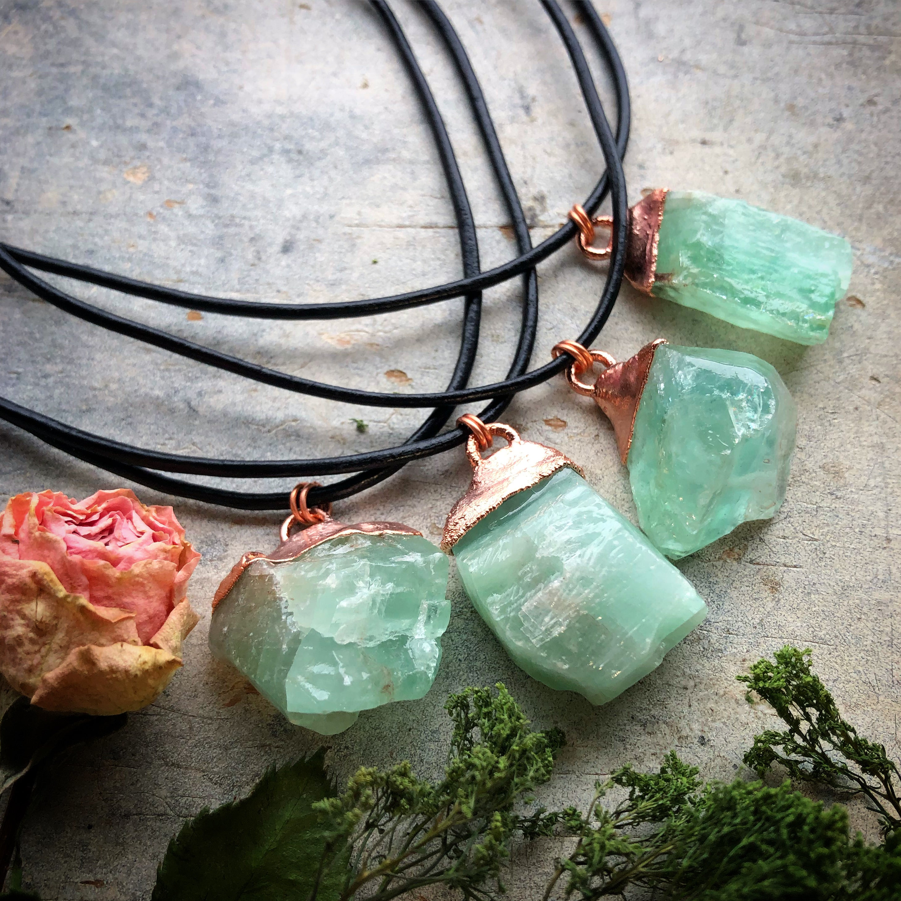 Green Calcite Choker Necklace