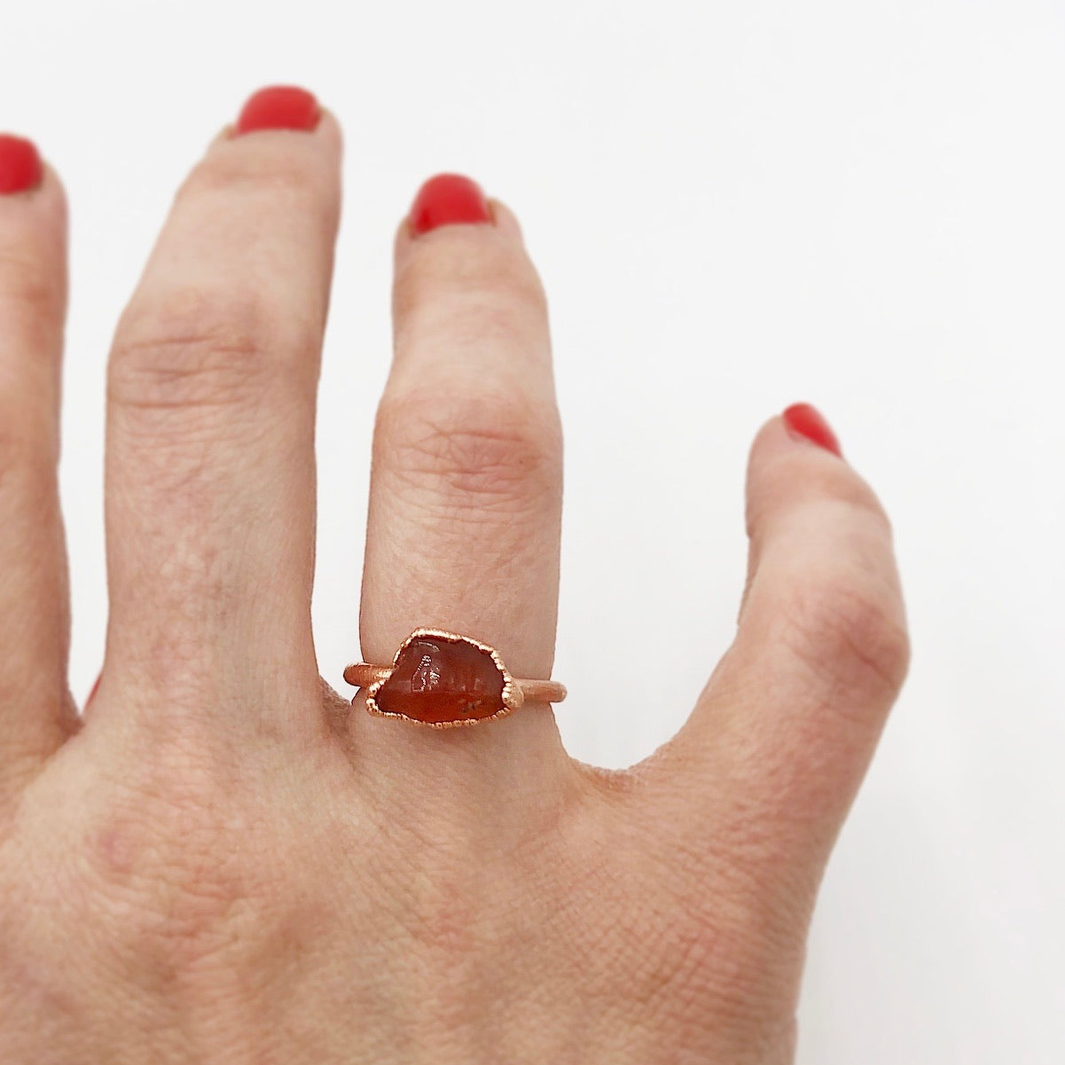 Raw Carnelian Ring SIZE 5.5