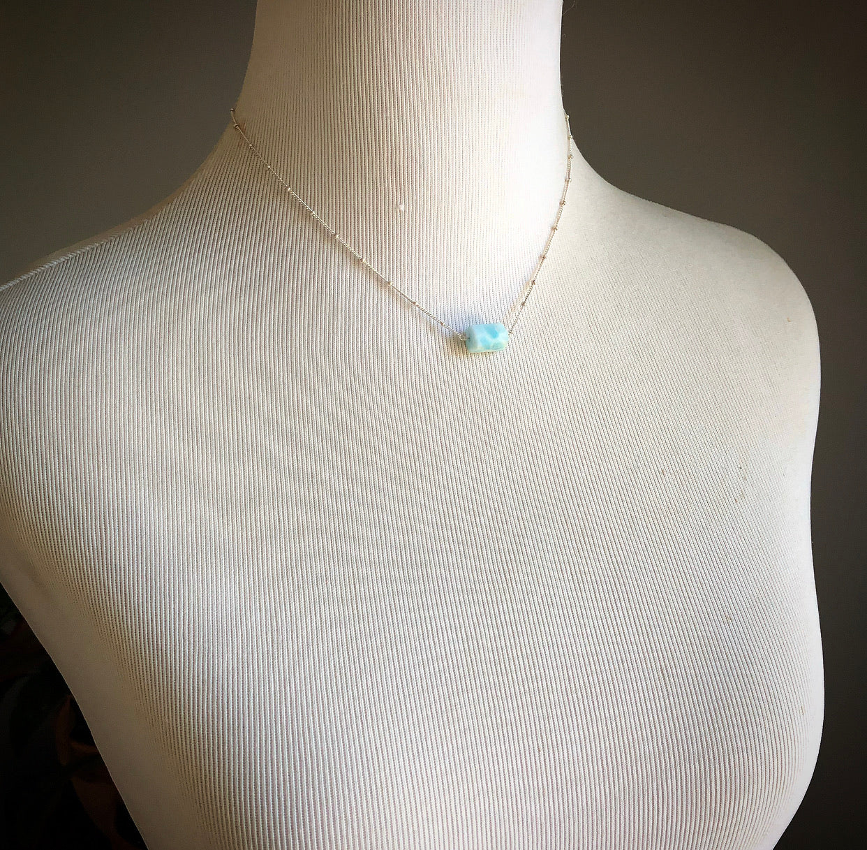 Hemimorphite Necklace in Silver