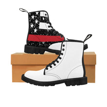 THIN BLUE & RED LINE TOGETHER  Women's Doc Martens Boots - Cora Rayne Collection - First Responders Rayne