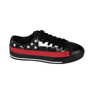 Women's - Walk A Mile In These Shoes Then Lets Talk - Thin Red Line - Cora Rayne Collection Sneakers