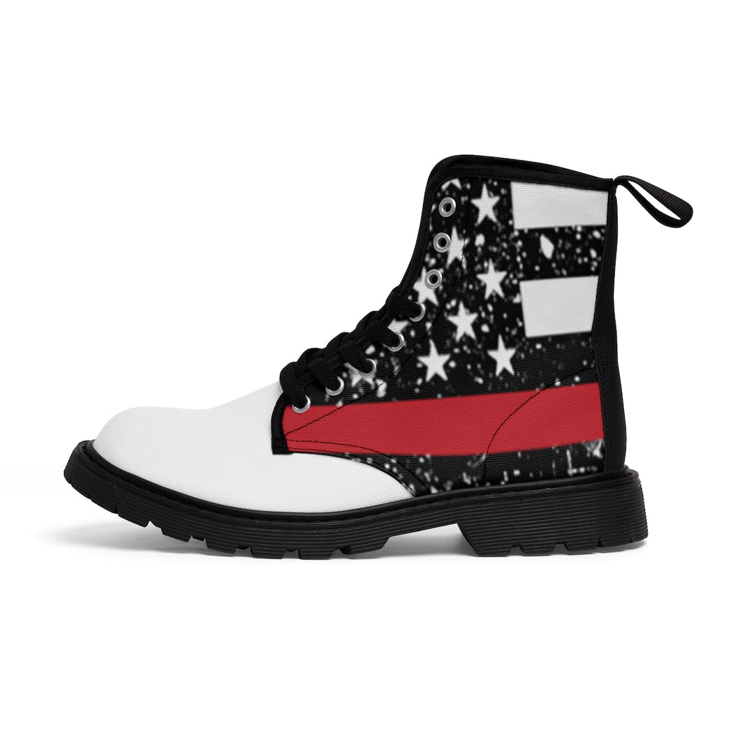 Thin Red Line Men's Doc Martens Boots -  Cora Rayne Collection - First Responders Rayne