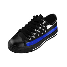 Men's - Walk A Mile In These Shoes Then Lets Talk - Thin Blue Line - Cora Rayne Collection Sneakers