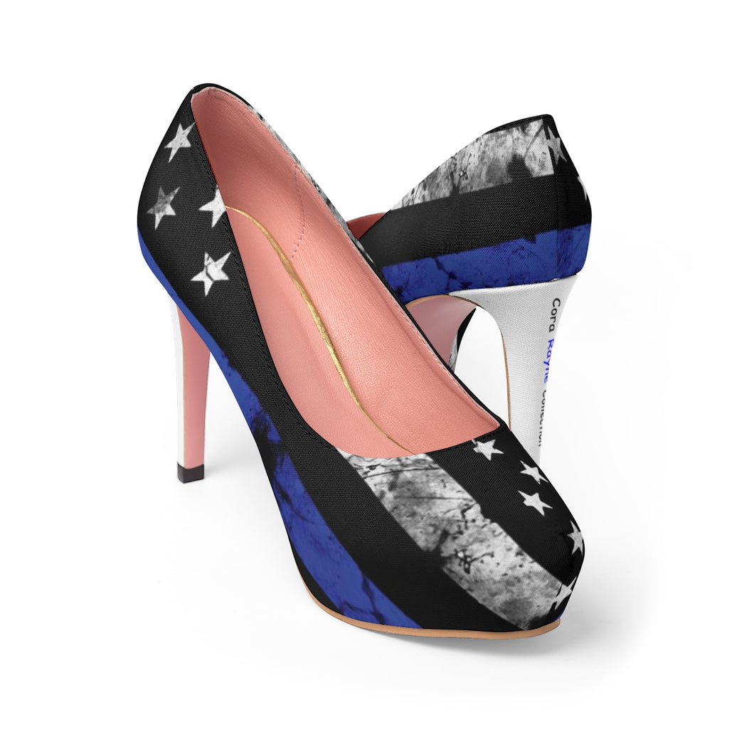 Blue Line Flag Cora Rayne Collection  - Women's Platform Heels