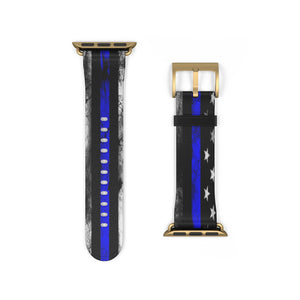 Cora Rayne Collection Thin Blue Line iWatch Band