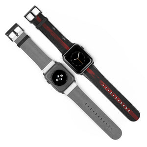 Cora Rayne Collection Red Line Flag for iWatch Band