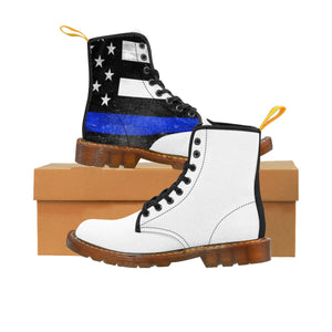 Thin Blue Line Men's Doc Martens Boots -  Cora Rayne Collection - First Responders Rayne