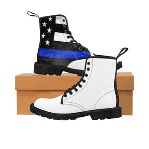 Thin Blue Line Women's Doc Martens Boots -  Cora Rayne Collection - First Responders Rayne