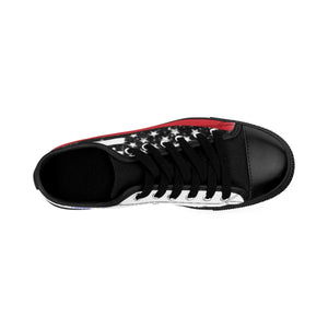 Men's - Walk A Mile In These Shoes Then Lets Talk - Thin Red Line - Cora Rayne Collection Sneakers