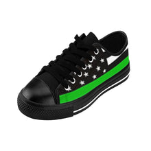 Men's - Walk A Mile In These Shoes Then Lets Talk - Thin Green Line - Cora Rayne Collection Sneakers