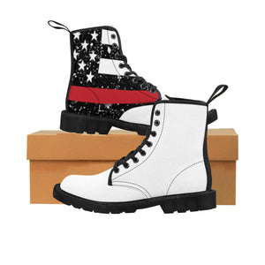 Thin Red Line Women's Doc Martens Boots -  Cora Rayne Collection - First Responders Rayne