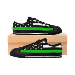 Women's - Walk A Mile In These Shoes Then Lets Talk - Thin Green Line - Cora Rayne Collection Sneakers