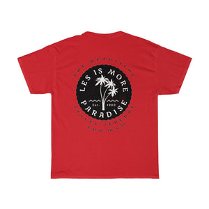 LES IS MORE - Honoring Our Lesley Zerebny - Unisex Heavy Cotton Tee - (Warn Vintage Look)