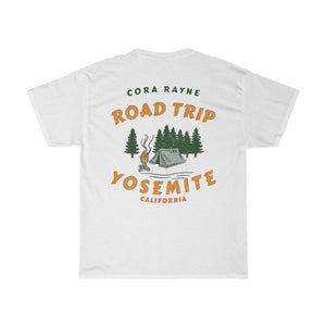 Road Trip - Yosemite - Unisex Heavy Cotton Tee (Warn Vintage Look)