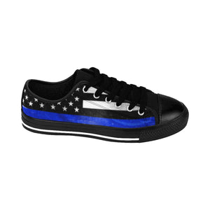 Women's - Walk A Mile In These Shoes Then Lets Talk - Thin Blue Line - Cora Rayne Collection Sneakers