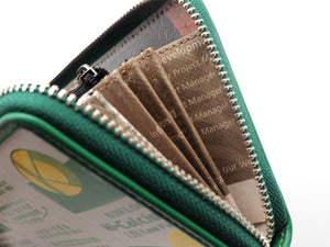 KOWLOON DAIRY LONG WALLET (GREEN) | RECYCLED