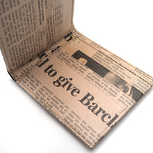 Load image into Gallery viewer, Newspaper Short Wallet | RECYCLED