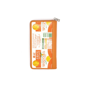 KOWLOON DAIRY LONG WALLET (ORANGE) | RECYCLED