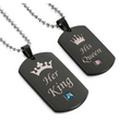 His Crazy Her Weirdo Couples Necklace Set