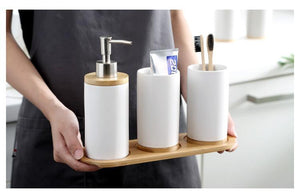 bamboo Bathroom tray Storage - My Wish Boxx