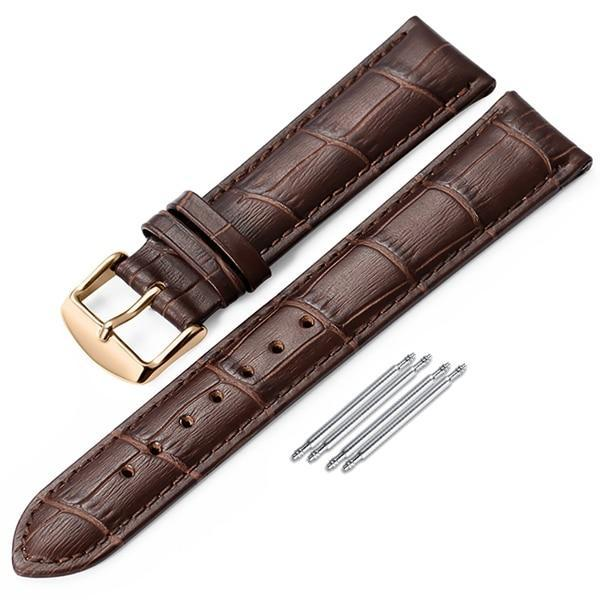 iStrap Watchband 18mm 19mm 20mm 21mm 22mm 24mm Soft Calf Genuine Leather Watch Strap Alligator Grain Watch Band for Tissot Seiko - My Wish Boxx