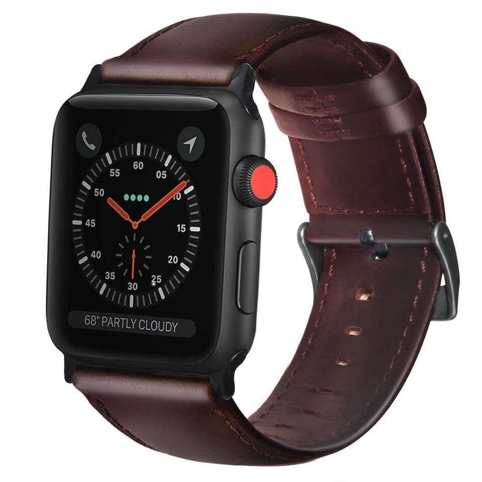 Genuine Leather Band for Apple Watch Series 1/2/3/4 - My Wish Boxx
