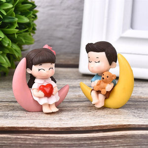 Moon Couple Figurines for Table