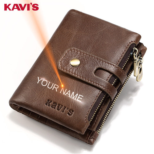 Gift Personalized Name  Leather Wallet