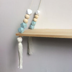 Wooden Tassels Storage Rack - My Wish Boxx