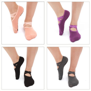 YOGA socks- Cotton With Ribbons - My Wish Boxx