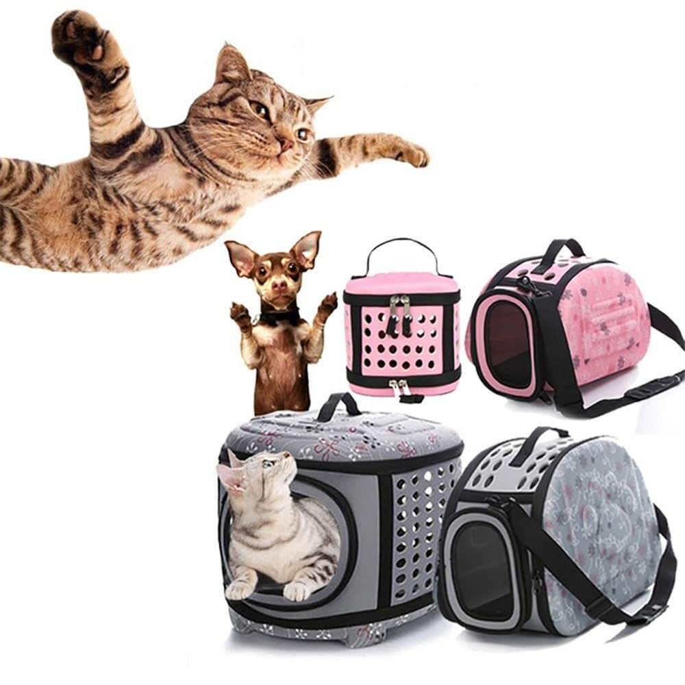 Coraltea EVA Pet Carrier Airline Approved Outdoor Under Seat Travel Puppy Bag-for Pets of Medium Size Cats & Dogs