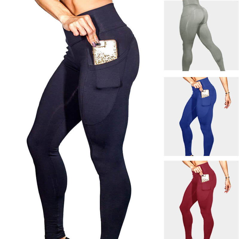Womens Pocket Workout Out Pocket Leggings Fitness Sports Gym Running Yoga Athletic Pants