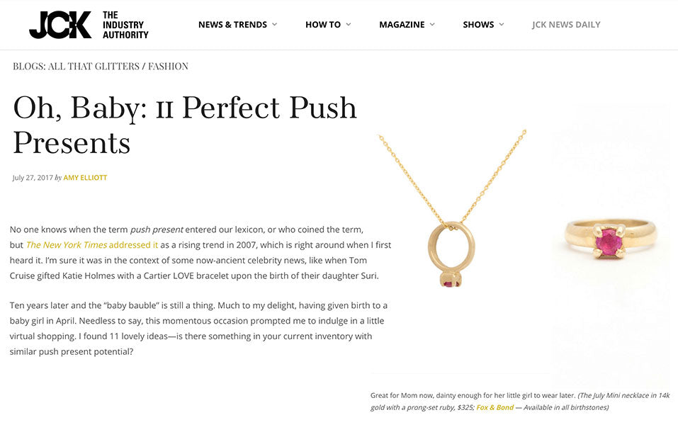 JCK.com: 11 Perfect Push Presents