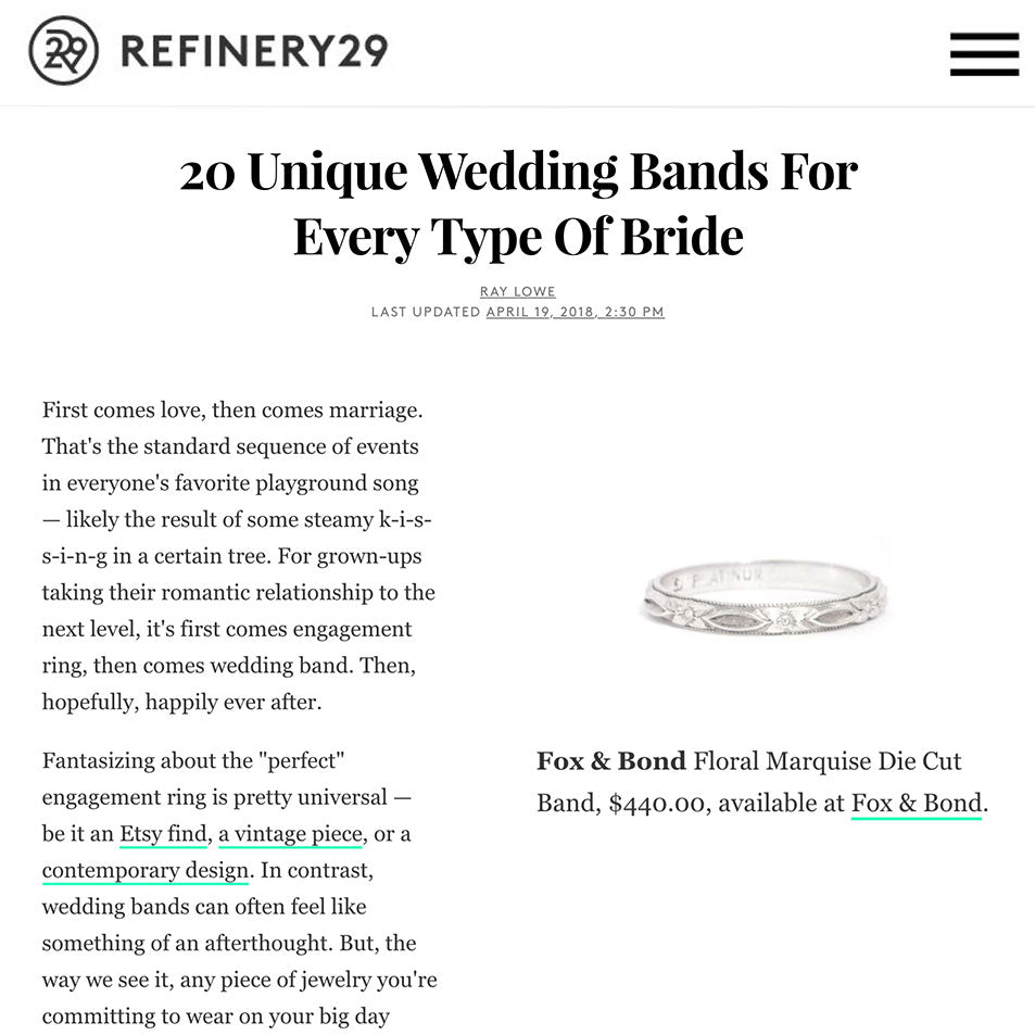 Refinery 29: 20 Unique Wedding Bands For Every Type Of Bride
