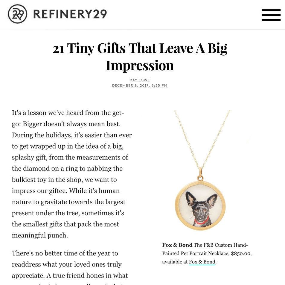 Refinery 29: 21 Tiny Gifts That Leave A Big Impression