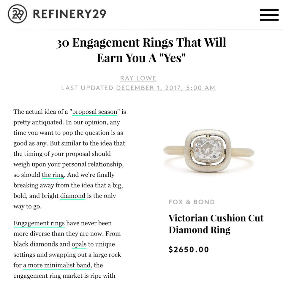Refinery 29: 30 Engagement Rings That Will Earn You A