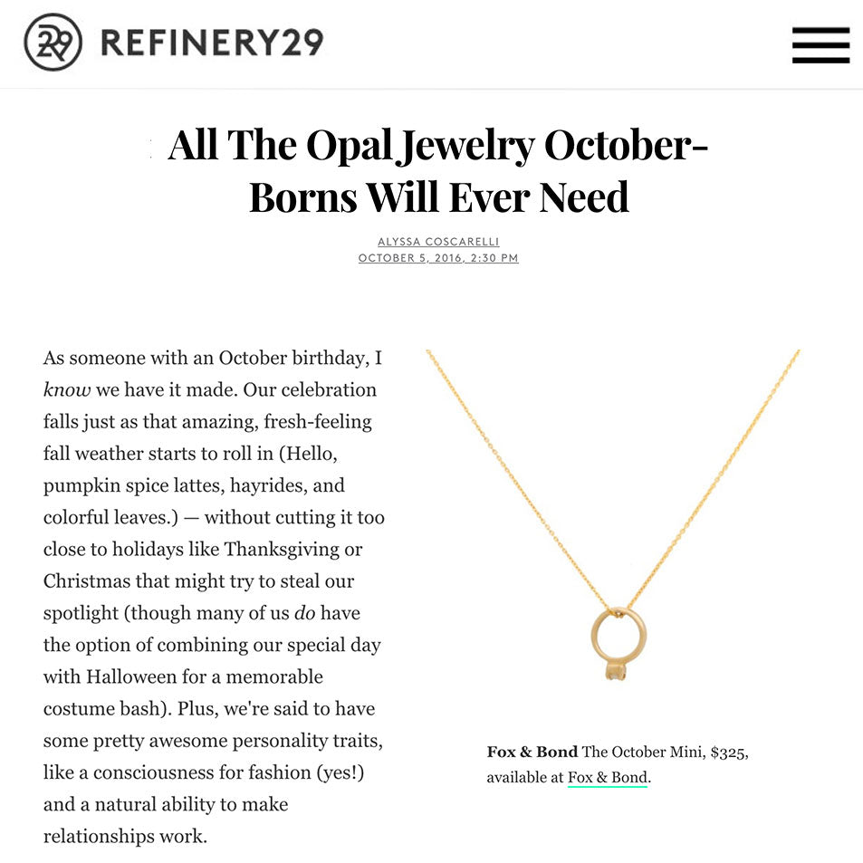 Refinery 29: All The Opal Jewelry October-Borns Will Ever Need