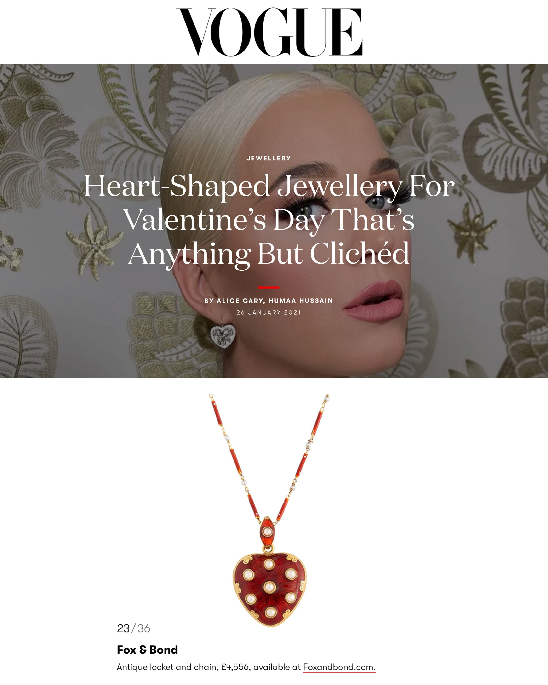 British Vogue: Heart-Shaped Jewellery For Valentine's Day That's Anything But Clichéd