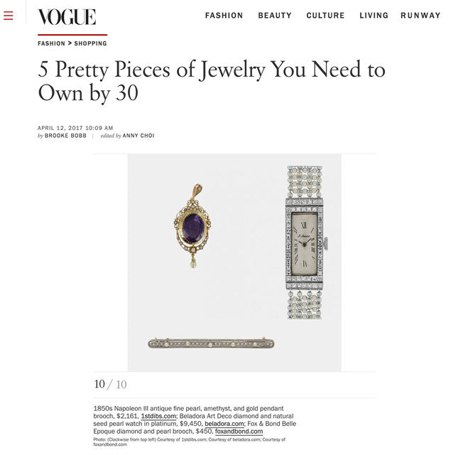 Vogue.com: 5 Pretty Pieces of Jewelry You Need to Own by 30