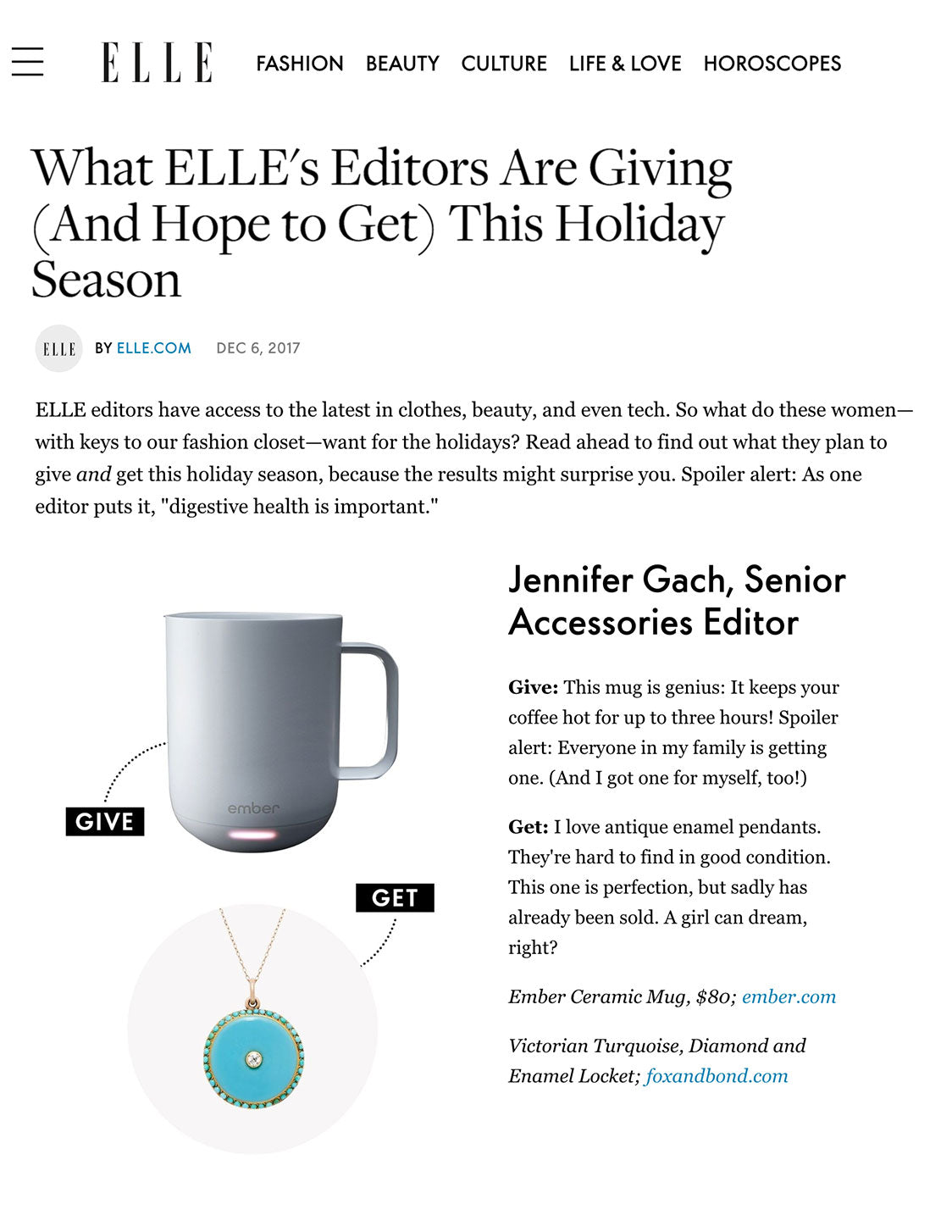 ELLE.com: What ELLE's Editors Are Giving (And Hope to Get) This Holiday Season