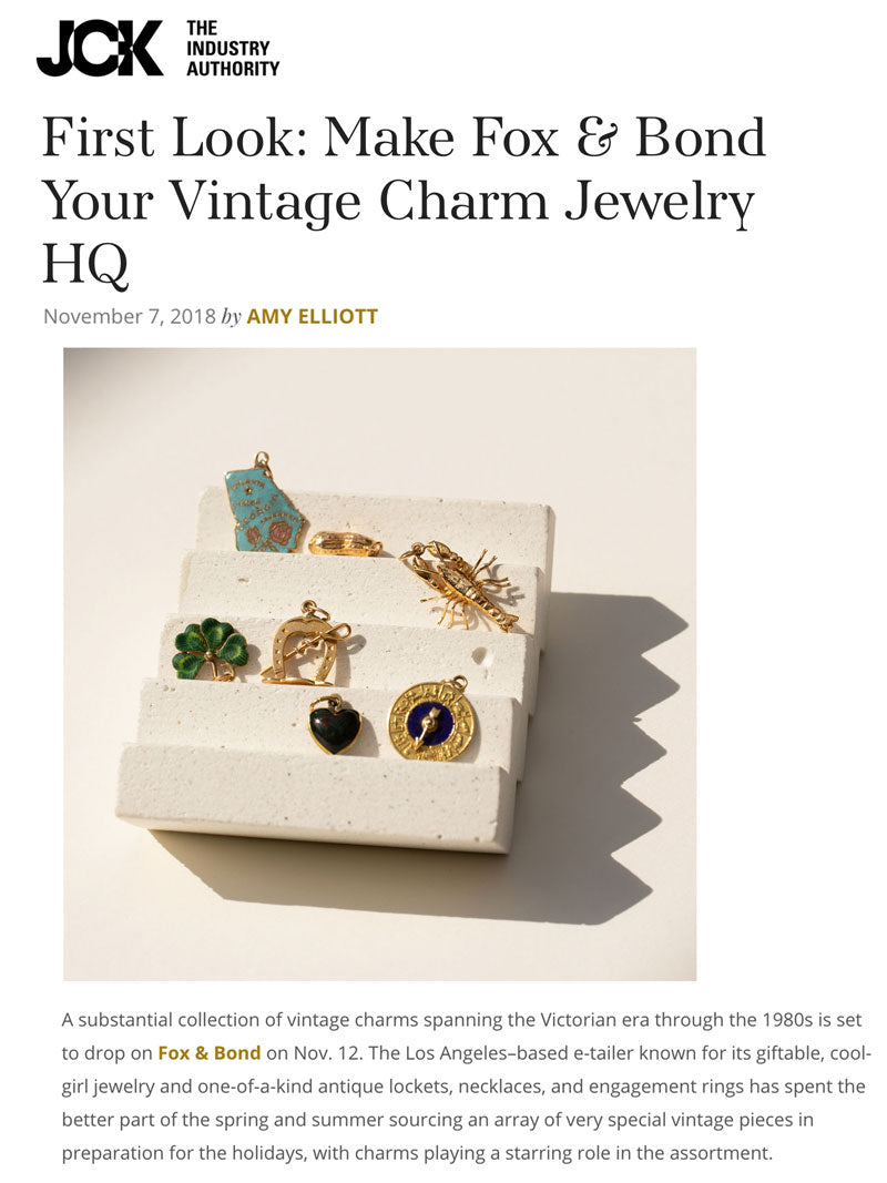 JCK: Make Fox & Bond Your Vintage Charm Jewelry HQ
