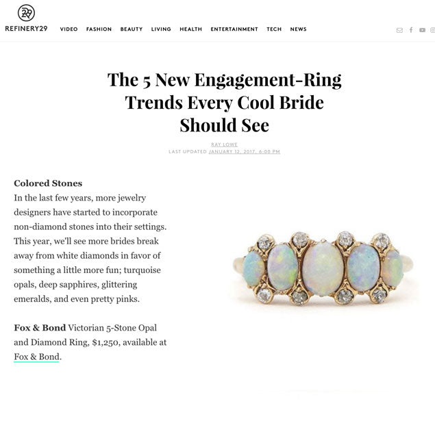 Refinery 29: The 5 New Engagement-Ring Trends Every Cool Bride Should See