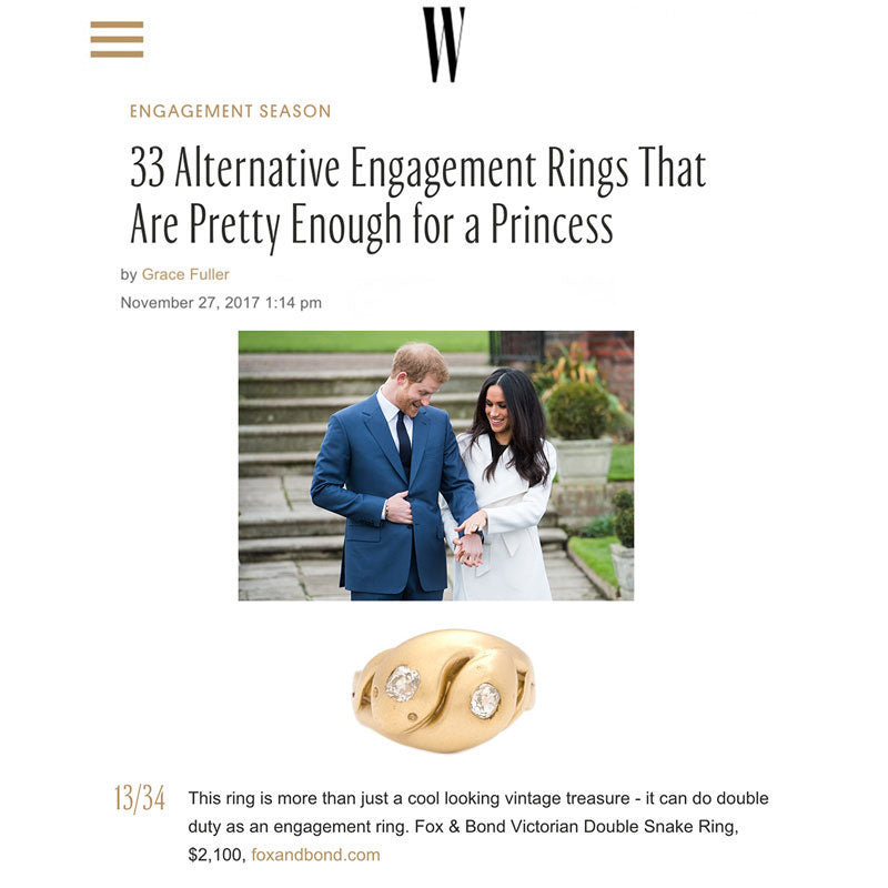 WMagazine.com: 33 Alternative Engagement Rings That Are Pretty Enough For A Princess