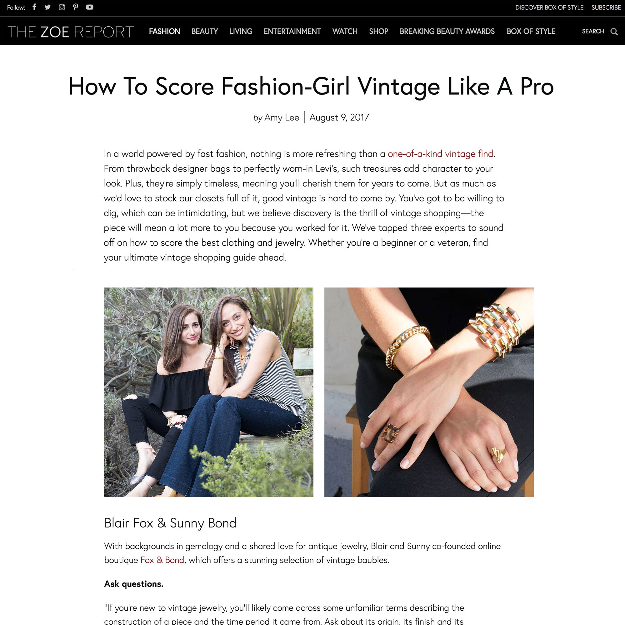 The Zoe Report: How To Score Fashion-Girl Vintage Like A Pro