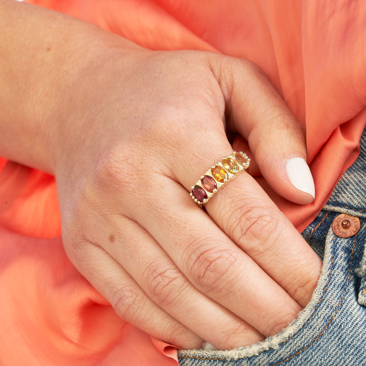 The F&B Sunset Ombre Ring